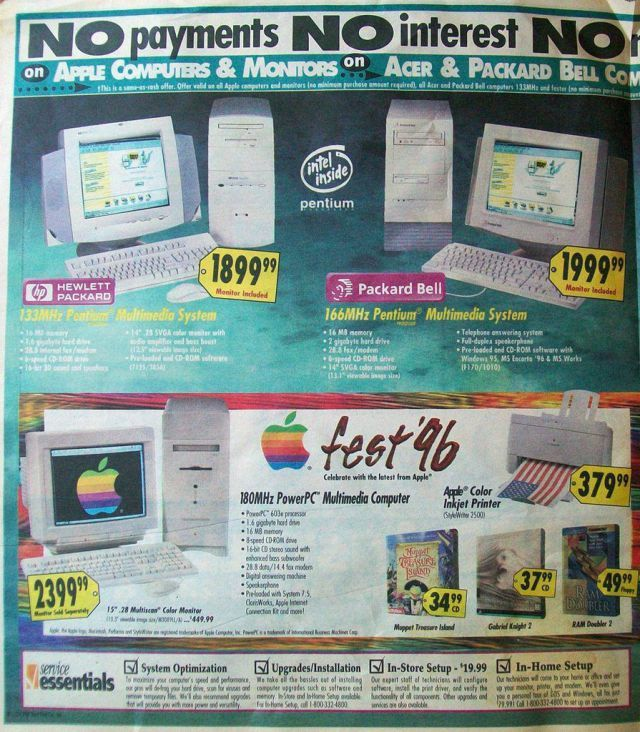 Best Buy Sunday Ad From 1996 | Ads From Back In The Day | Cool