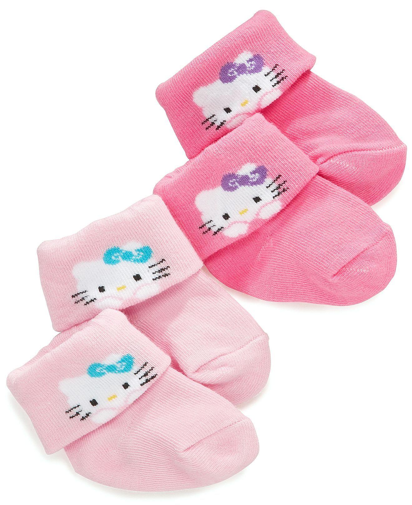 Hello Kitty Baby Socks Baby Girls 2 Pack Hello Kitty