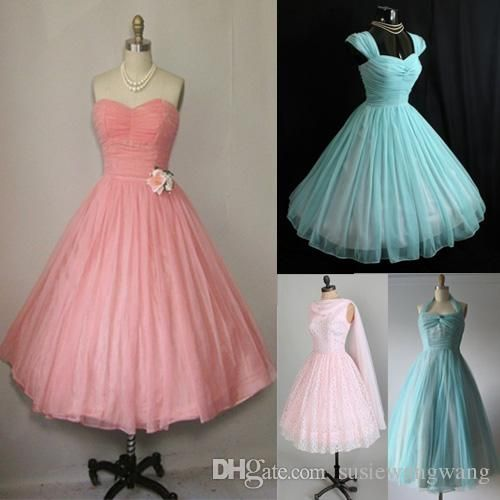 Plus Size 1950s Vintage 50s Short Prom Dresses Backless Wedding Party Bridesmaid Dresses Evening Puffy Ball Gowns Real Image Gowns For Sale Kids Prom Dresses Fr Backless Prom Dresses Prom Dresses