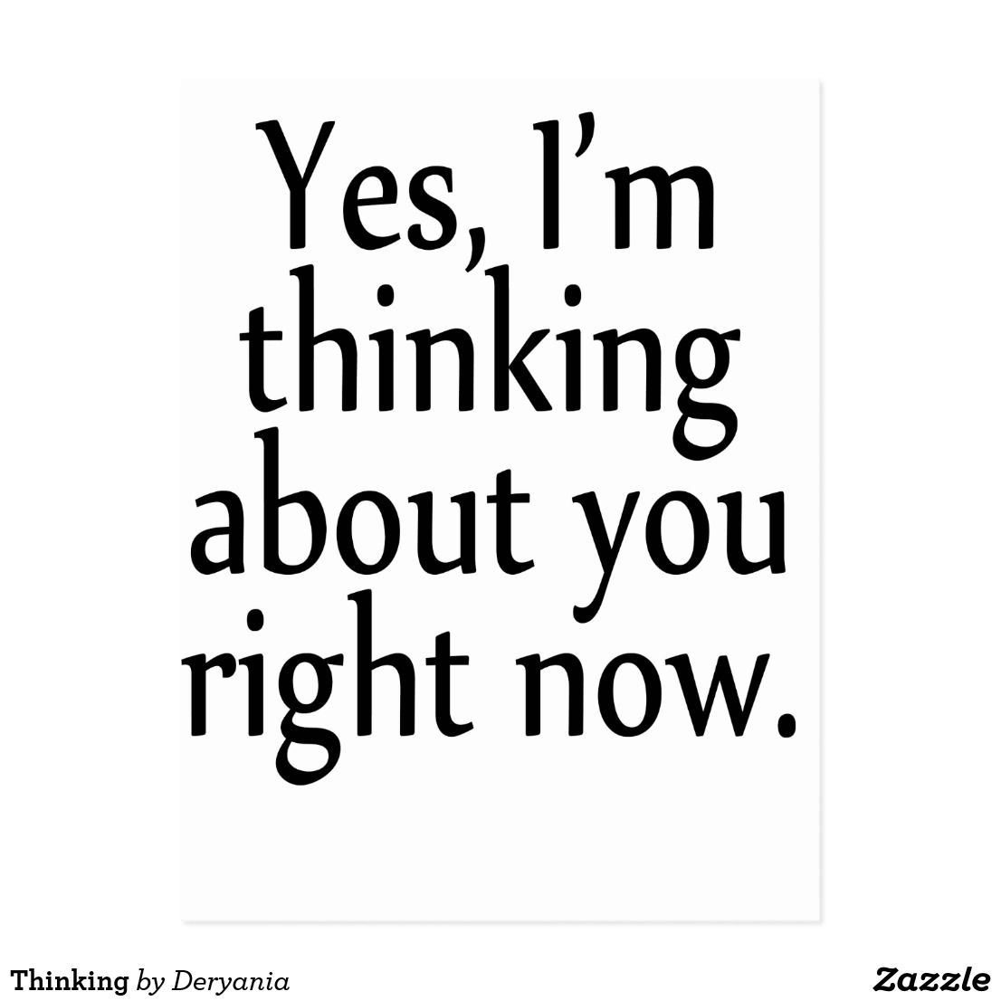 Thinking Postcard | Zazzle.com