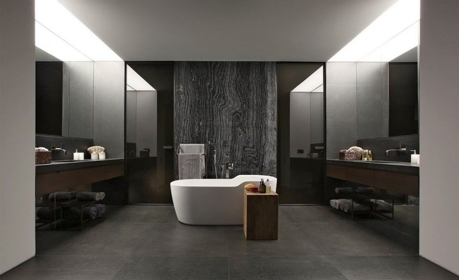 Light spilling into the loo blurs the boundaries between indoors and out baños pinterest studio lights and powder room