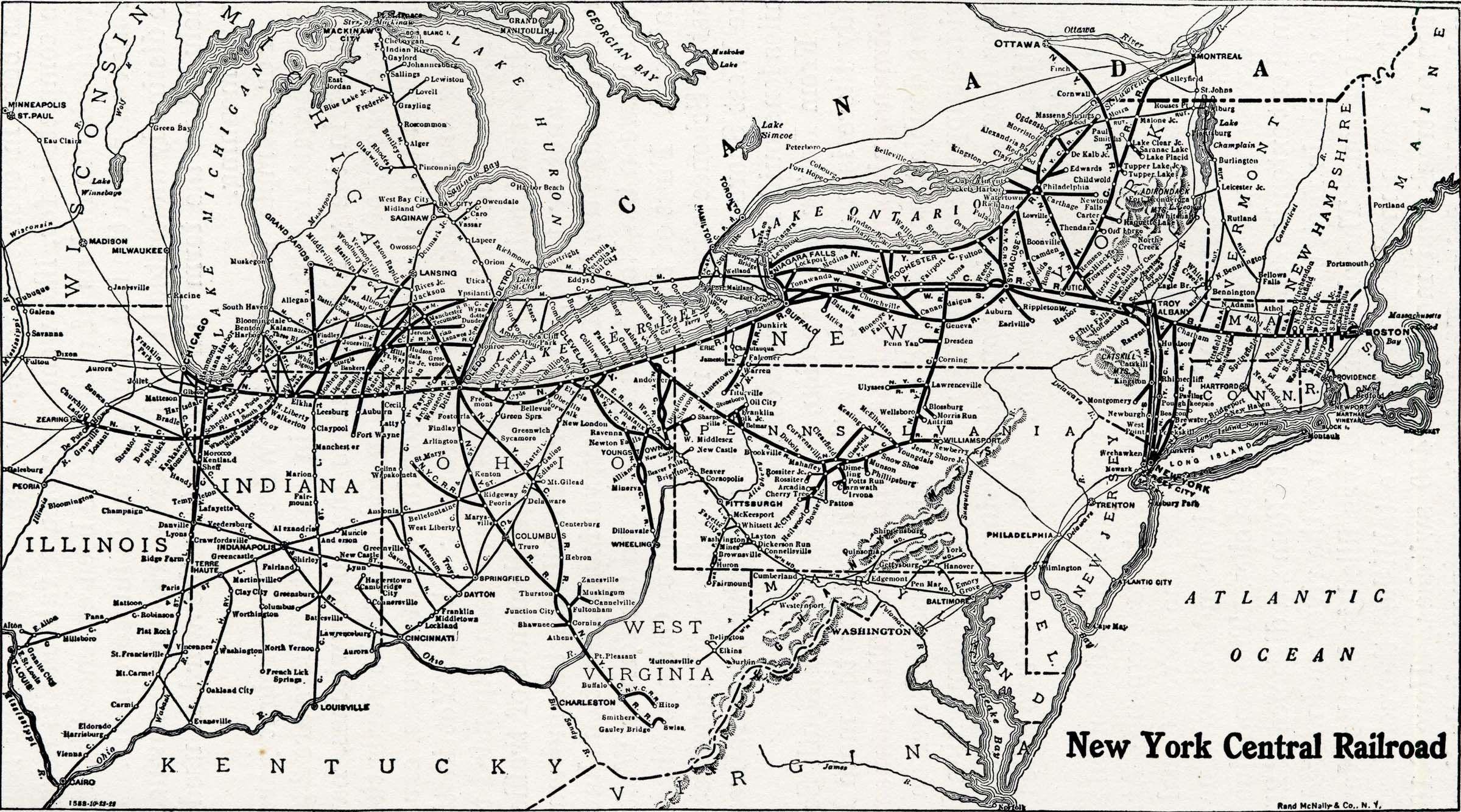 18x24 Vintage Reproduction Railroad Rail Train Historic Map Texas 1900