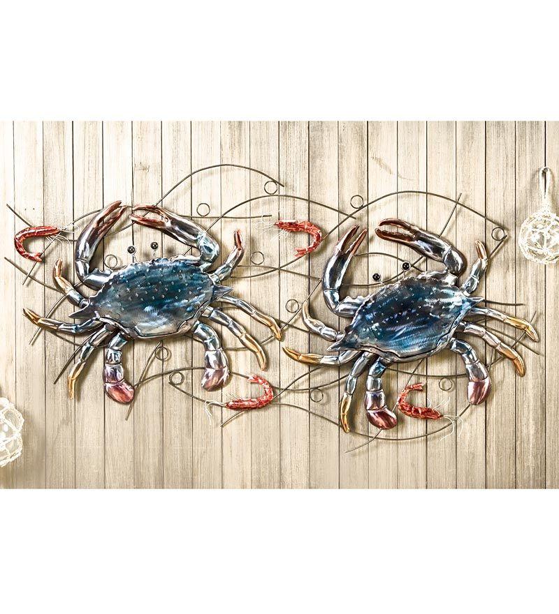 Crab And Shrimp Metal Wall Sculpture Best Selling For The Home Wall Sculptures Metal Wall Sculpture Metal Sculpture Wall Art