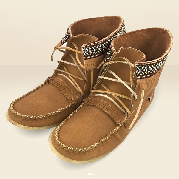 Men S Moose Hide Leather Moccasin Boots Moccasin Boots