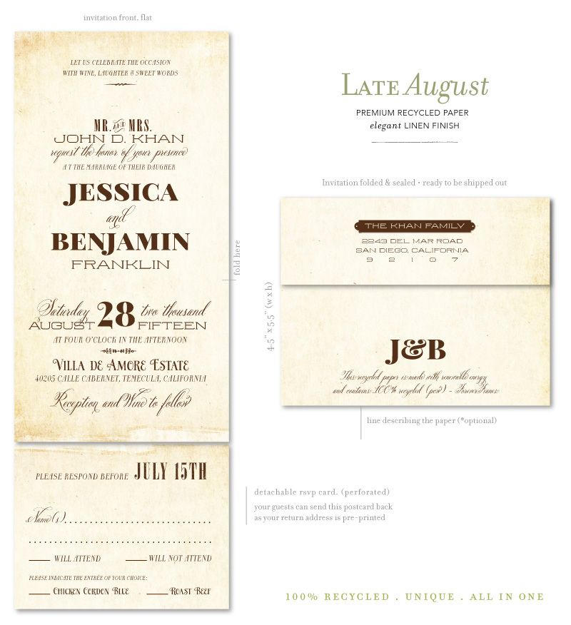 Vintage Seal And Send Wedding Invitation Best Site Hairstyle Dress For Man Woman