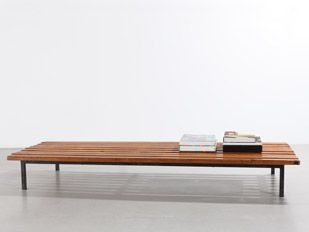 Charlotte Perriand Bench, 1958 #charlotteperriand #perriand Courtesy Galerie Patrick Seguin