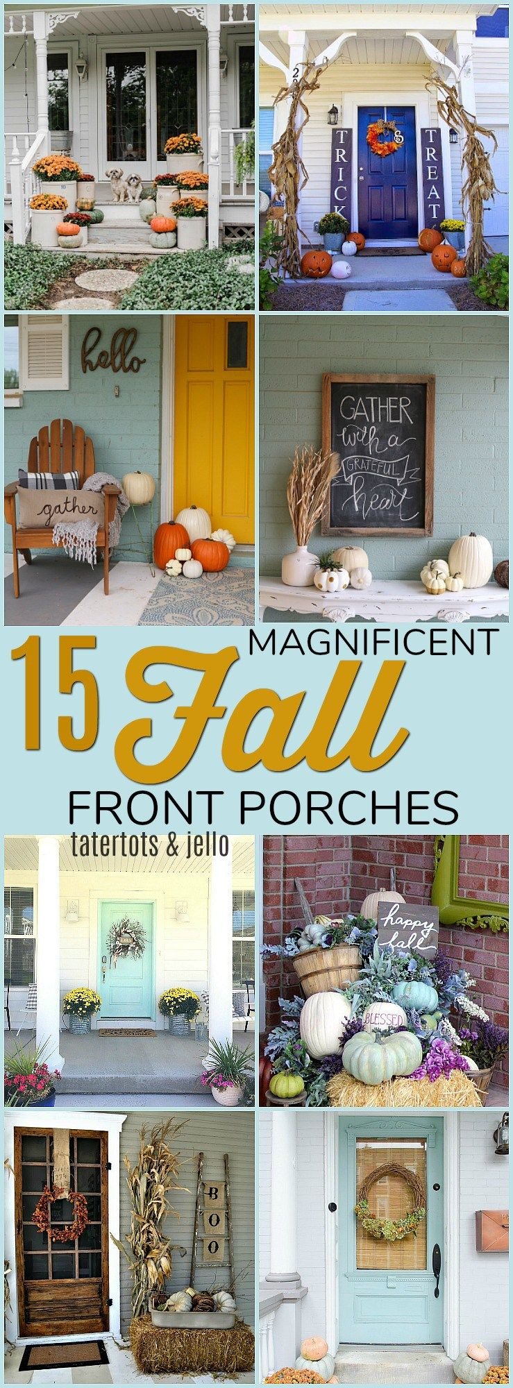 15 Magnificent Fall Front Porches. Make YOUR Front Door SHINE With These  Festive Fall Ideas