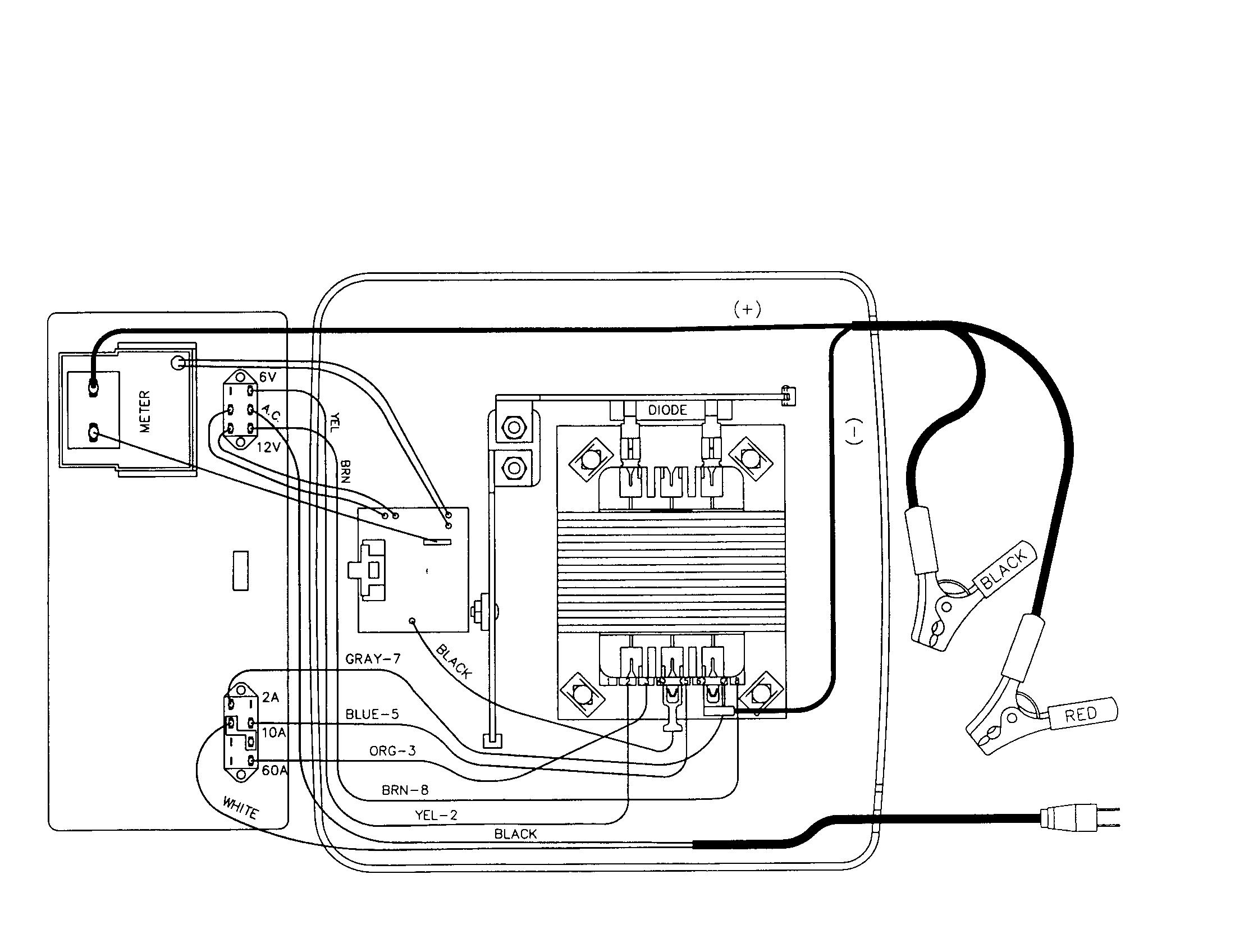 schumacher battery charger wiring diagram | scwam battery charger schematic | Pinterest