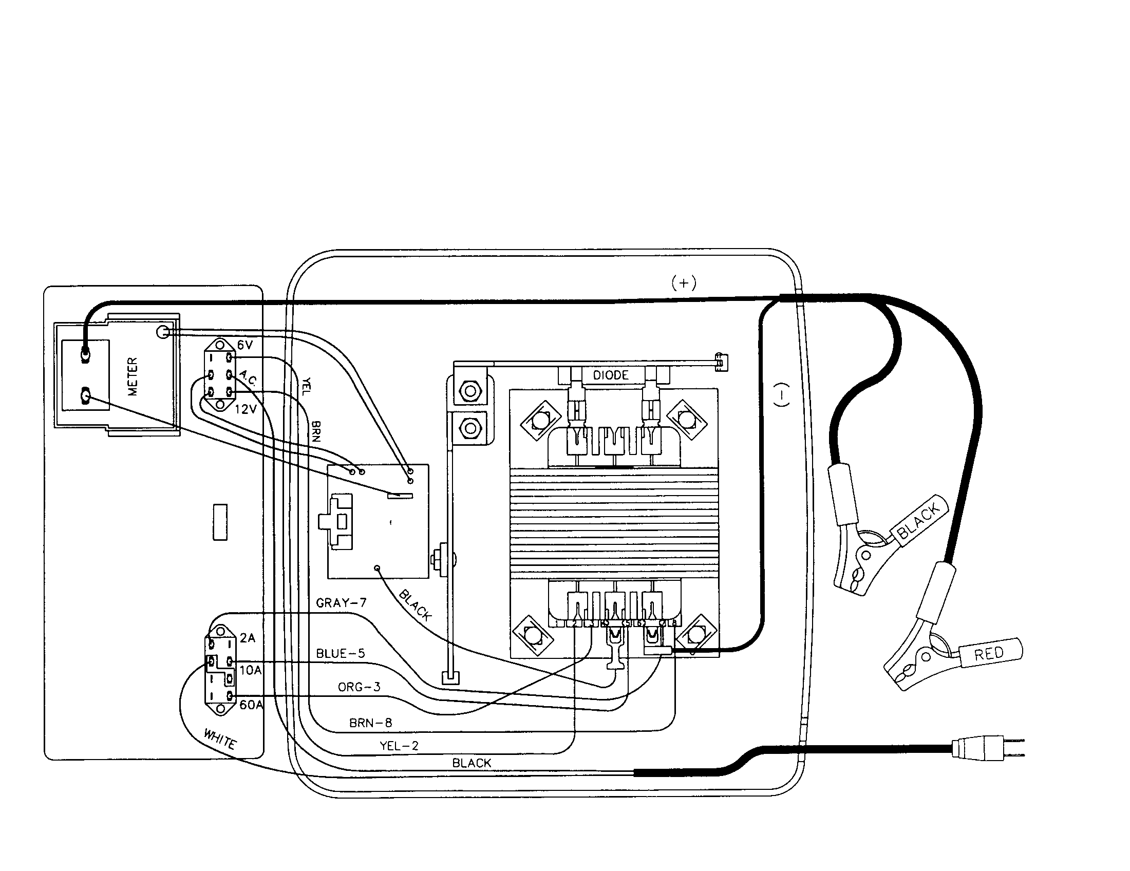 schumacher battery charger wiring diagram [ 2200 x 1696 Pixel ]