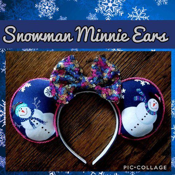 Snowman Minnie Mouse Ears Headband, Mickey\u0027s Very Merry Christmas