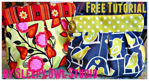SleepyOwl Studio's Pleated Pouch -  Free Sewing Tutorial + How To Make a Pleating Board and Create
