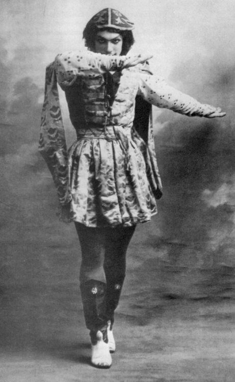 Vaslav (or Vatslav) Nijinsky was a Russian ballet dancer and choreographer of Polish descent, cited as the greatest male dancer of the early 20th century.[3] He grew to be celebrated for his virtuosity and for the depth and intensity of his characterizations. He could perform en pointe, a rare skill among male dancers at the time[4] and his ability to perform seemingly gravity-defying leaps was legendary.