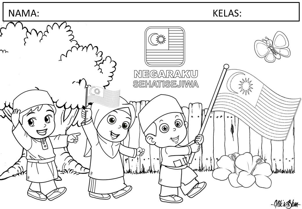 Pin by nik mahzon on Malaysia National Day Coloring