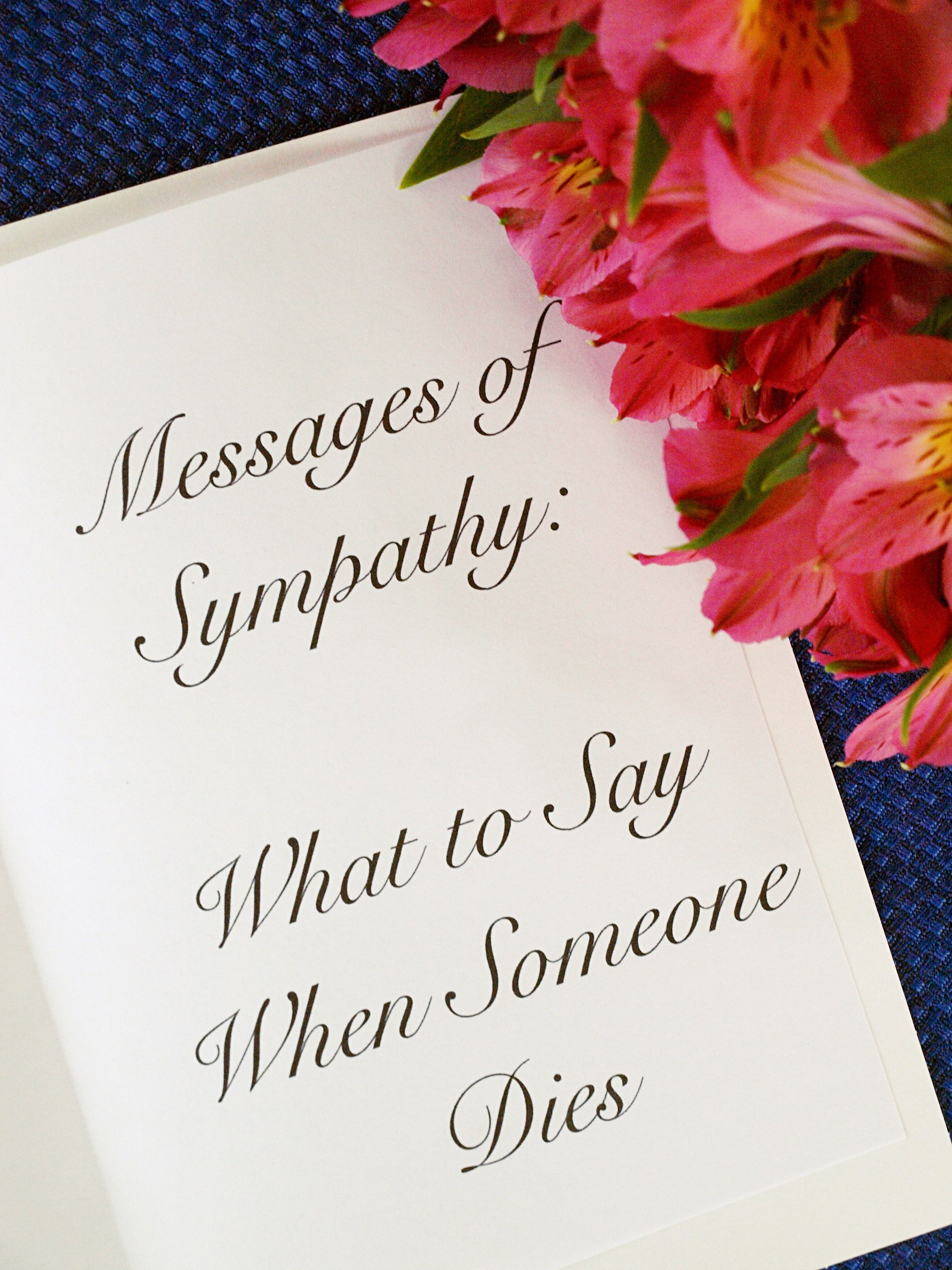 50 Messages Of Sympathy What To Say When Someone Dies Sympathy