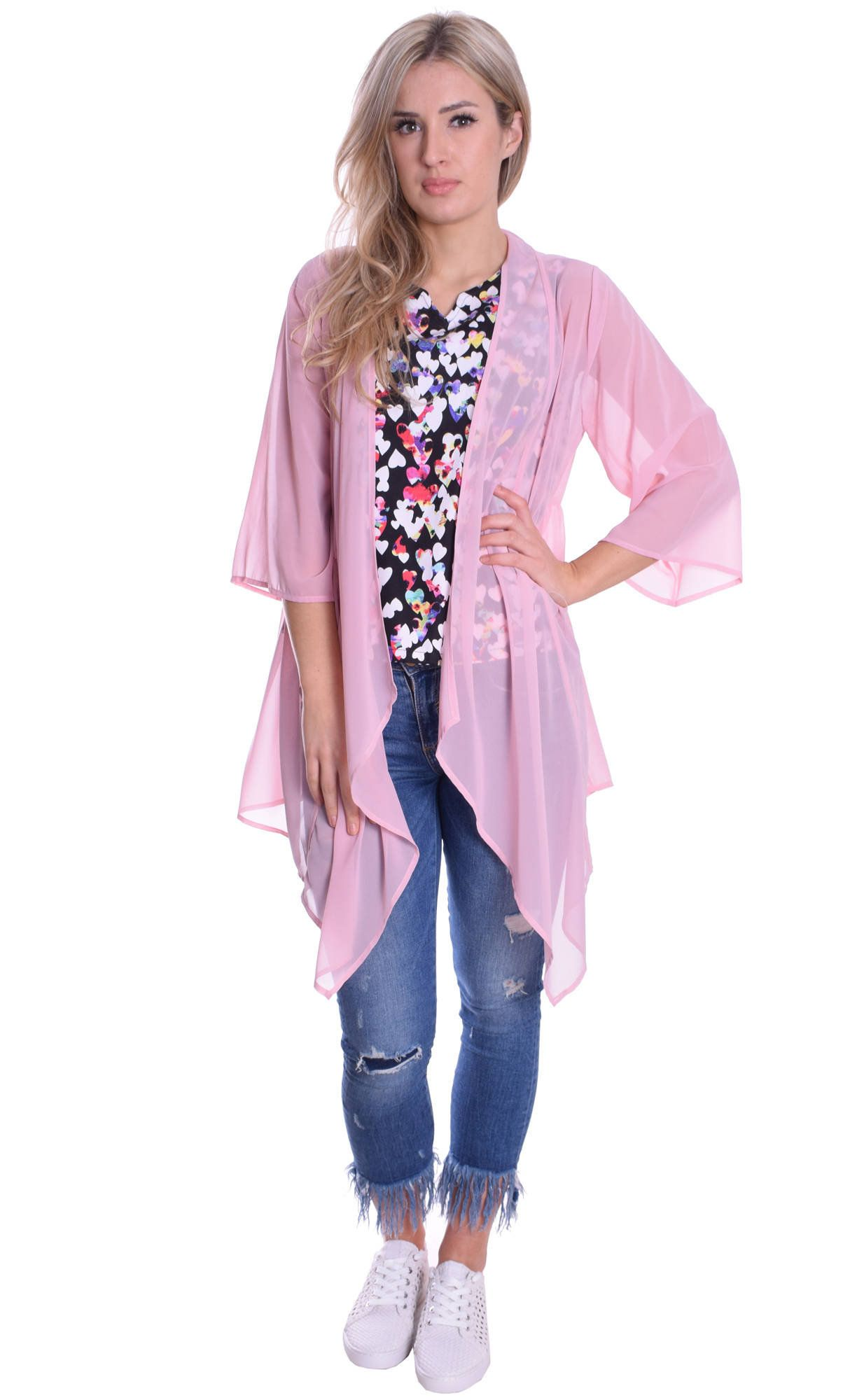 MontyQ Top Tunic 3//4 Sleeve Casual Soft Stretchy Comfy Loose Fit Floral