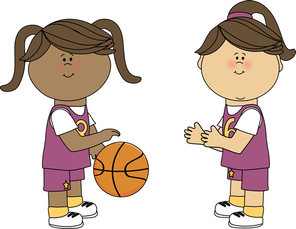 girls playing basketball oklev lk pek pinterest clip art rh pinterest com Basketball Shot Clip Art Rolling Basketball