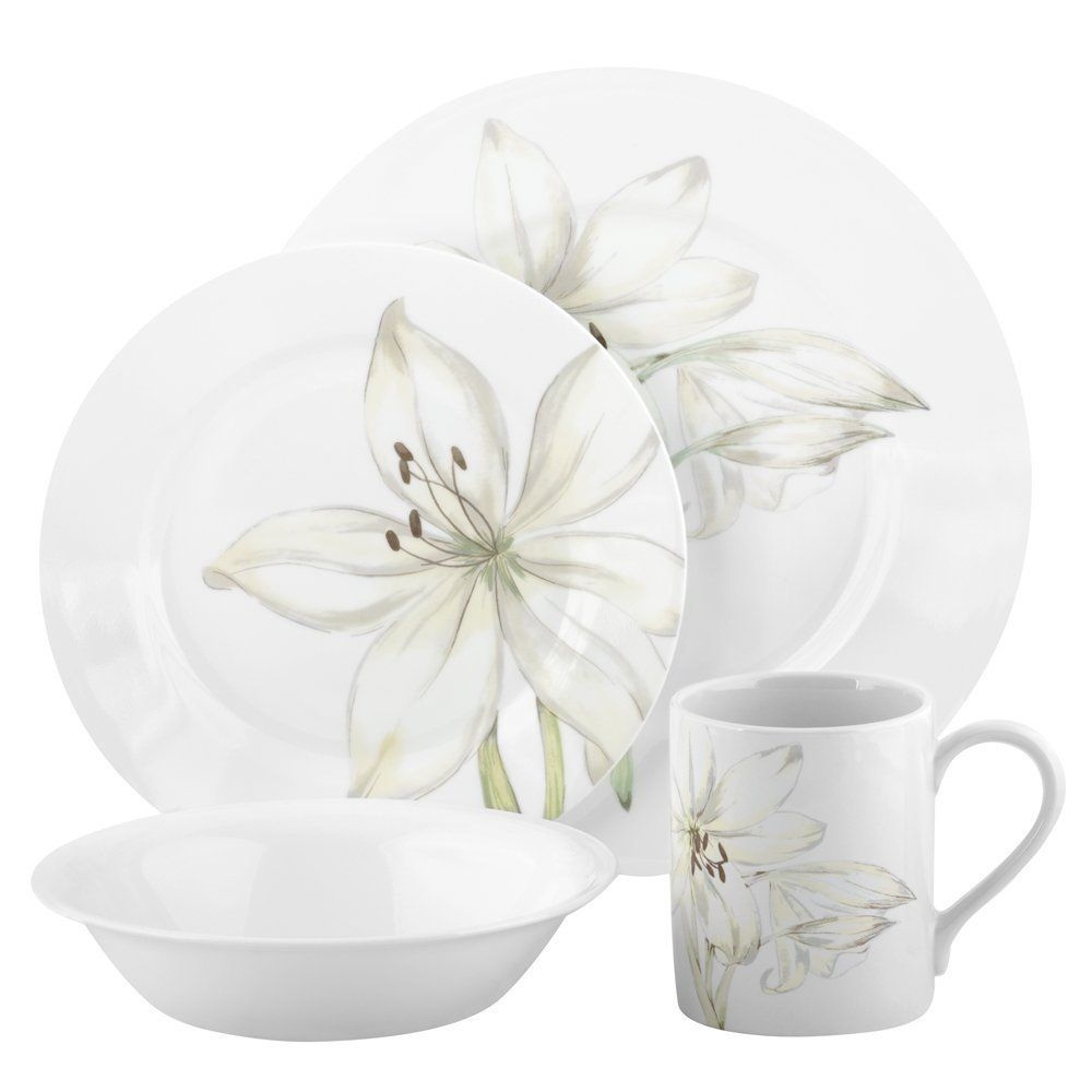nice Corelle Guarantee Part - 17: CORELLE Impressions White Flower 16 piece Dinnerware Set $44.95 TOTAL  PRICE...LOWEST PRICE GUARANTEE...PICK UP OR WE WILL SHIP FREE  WORLDWIDE...100% MONEY ...