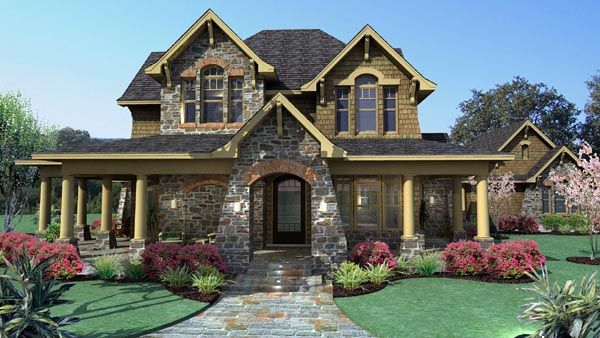 House Plan 75106   Country Craftsman Tuscan Style Plan with