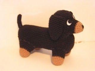 Free Knitting Pattern For Dachshund Dog : Dachshund Free Amigurumi Crochet Pattern. amigurumis Pinterest See more...