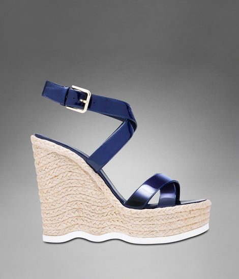 cc6845073 YSL SAINT MALO ESPADRILLE IN NAVY BLUE PATENT LEATHER | Style ...