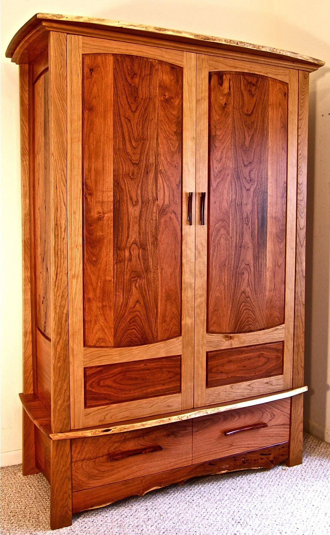 Find this Pin and more on The Art Of Handmade Furniture. - Custom Handmade Armoire In Texas Mesquite & Cherry The Art Of