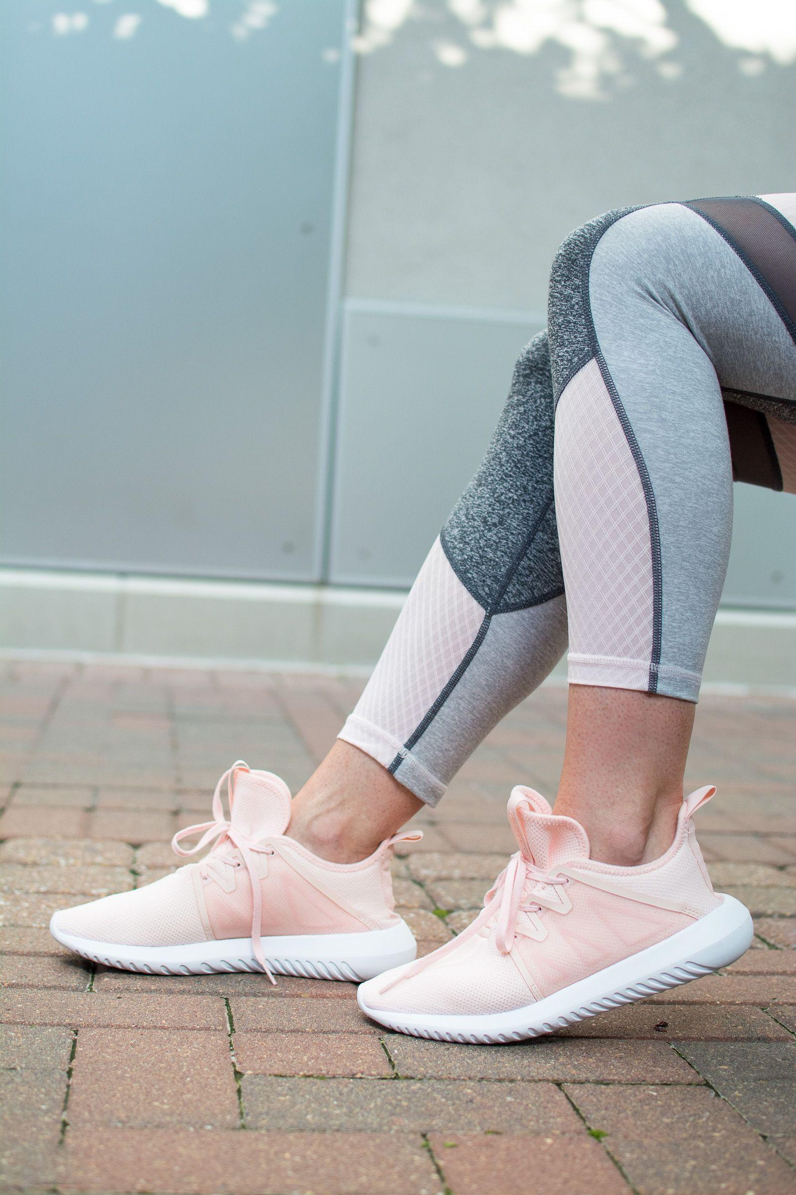 Blush Athleisure: Zella Color Block Leggings + Adidas