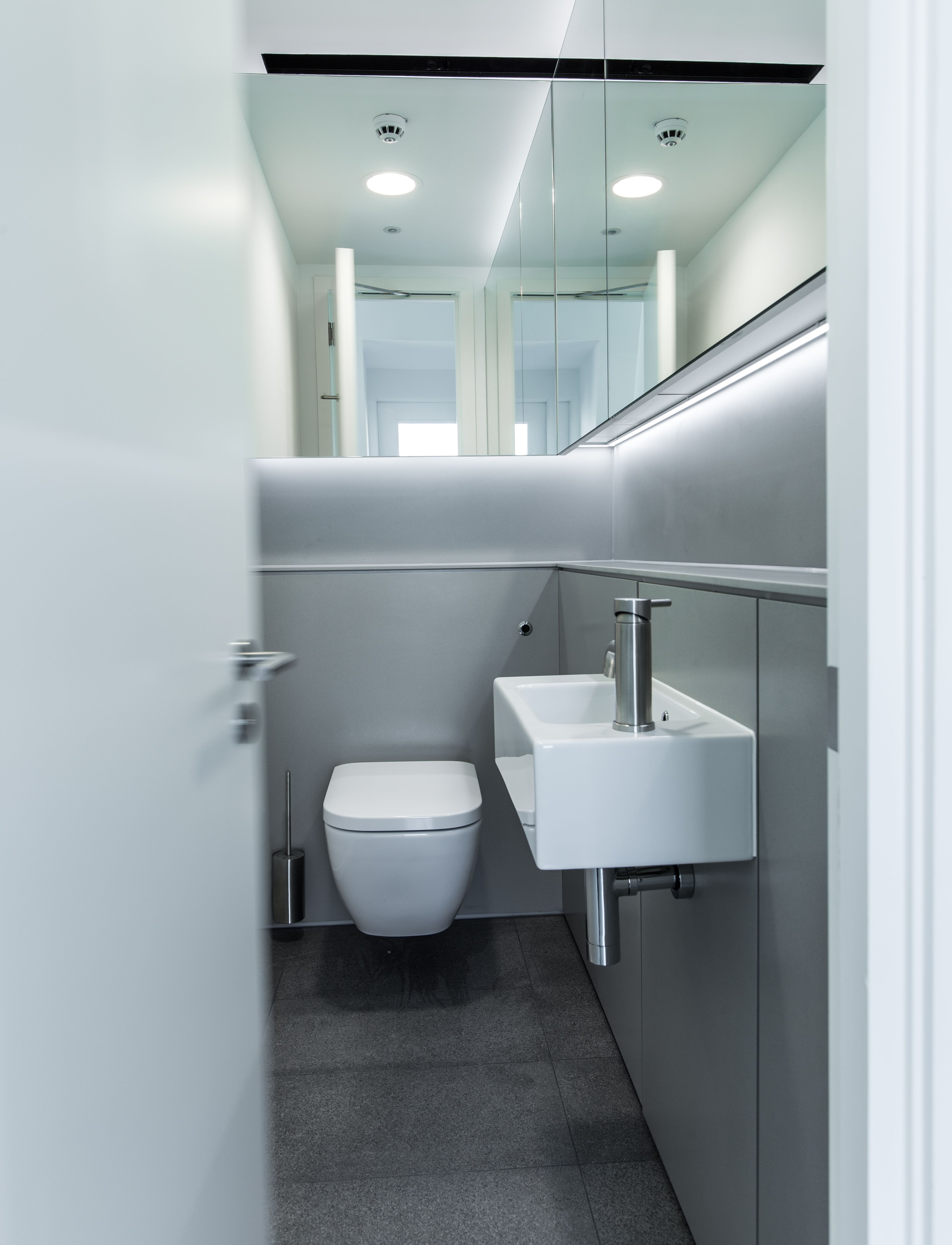 Super Loos with Concerto integrated duct panels faced with solid