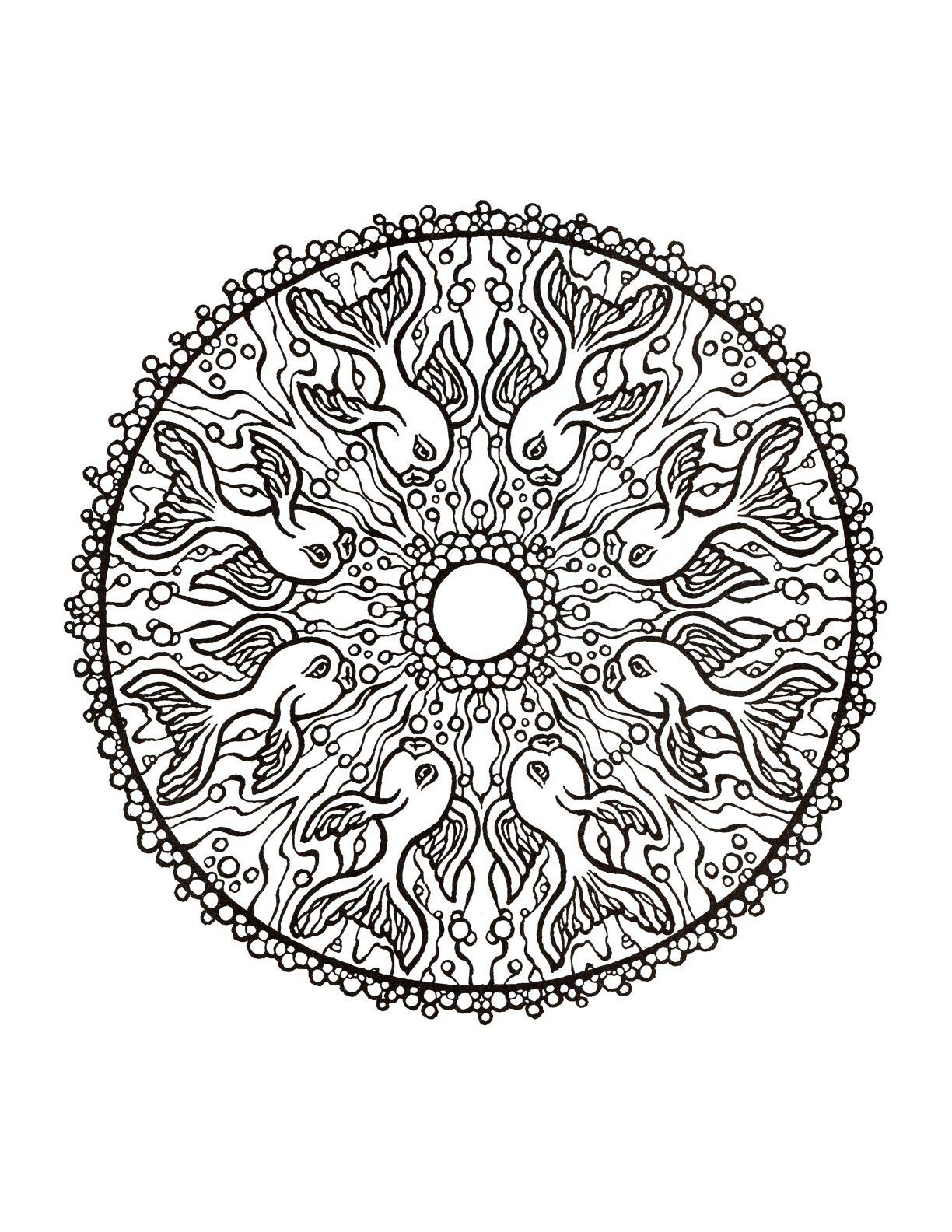 Mystical Mandala Coloring Book Mandala Coloring Books Mandala Coloring Mandala Coloring Pages
