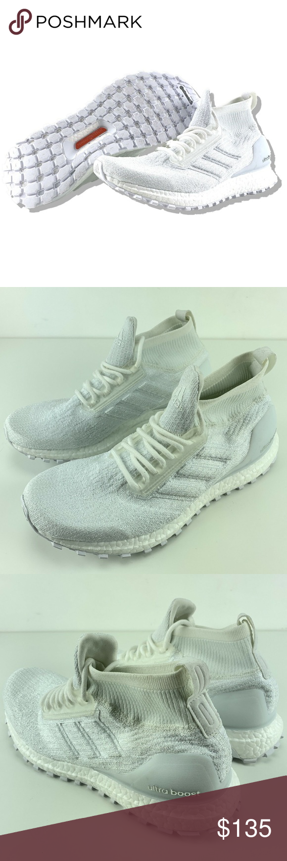 23ee38689ea26 Adidas Ultra Boost Triple White Adidas Ultra Boost Triple White Size 8.5  Mens All Terrain ATR Mid Running Shoes Brand New Shoes