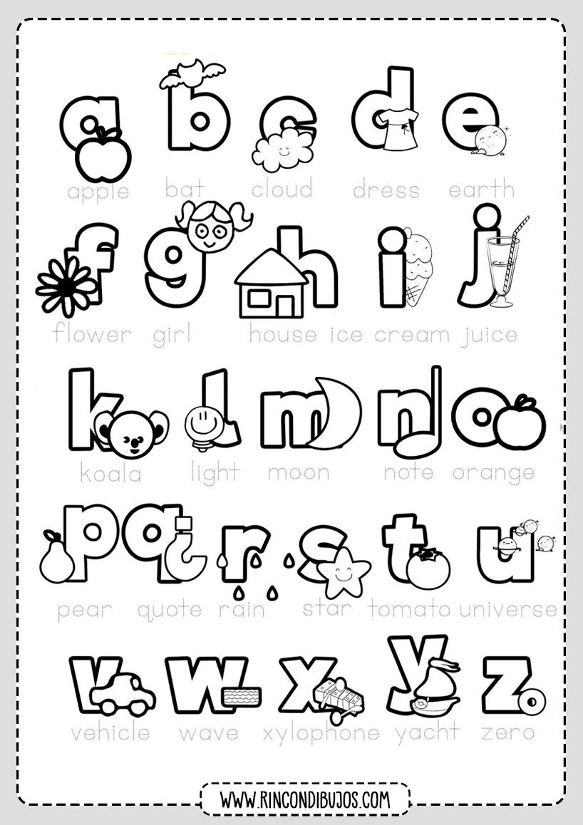 Letras Abecedario Para Pintar Rincon Dibujos Letras Del Abecedario Abecedario Ingles Ingles Para Preescolar