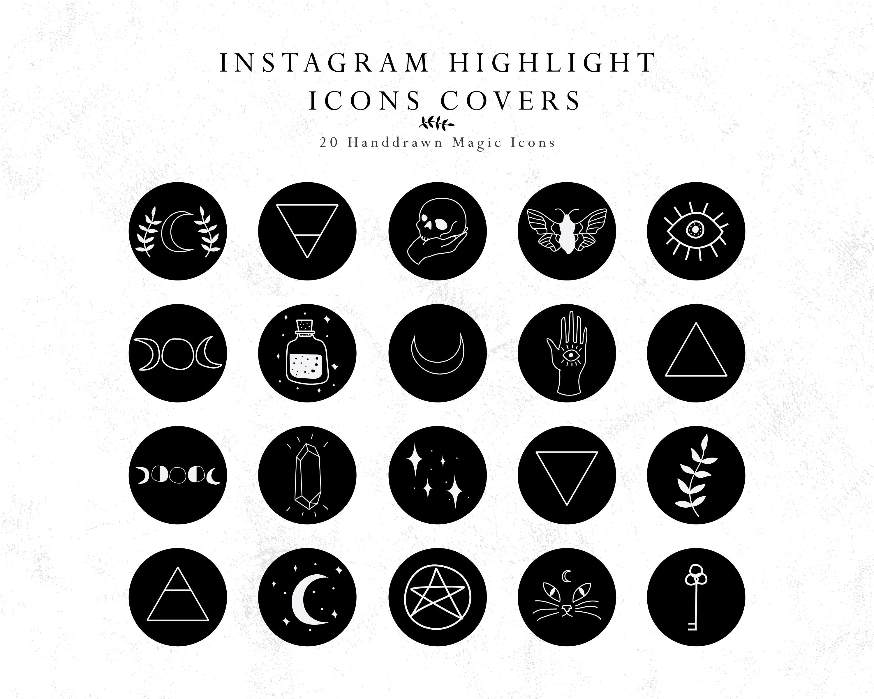 Instagram Story Highlights Cover Icons Magic Handdrawn Icons Etsy Instagram Story Story Highlights Instagram Highlight Icons