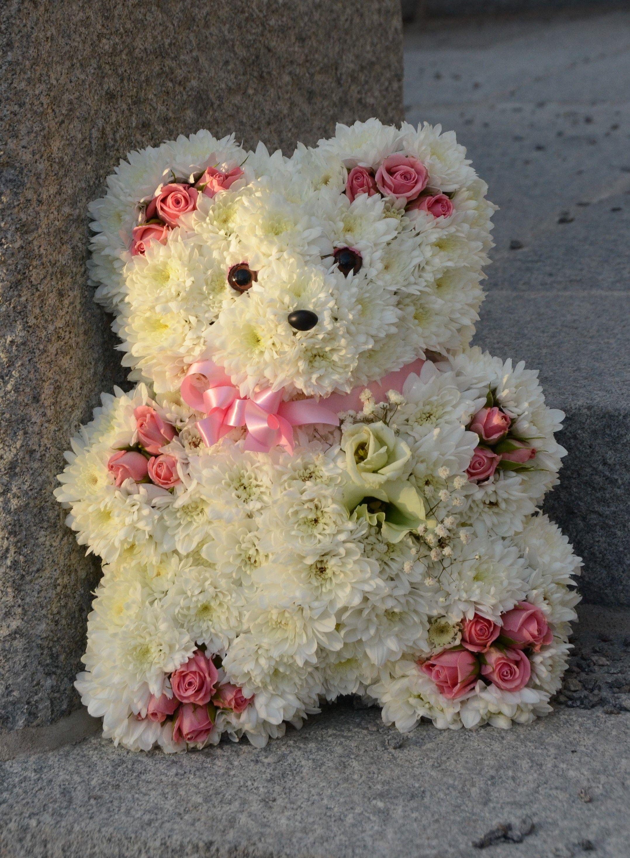 Mini teddy sympathy and funeral floral design using oasis foam mini teddy sympathy and funeral floral design using oasis foam frames mini shapes oasisfloral izmirmasajfo