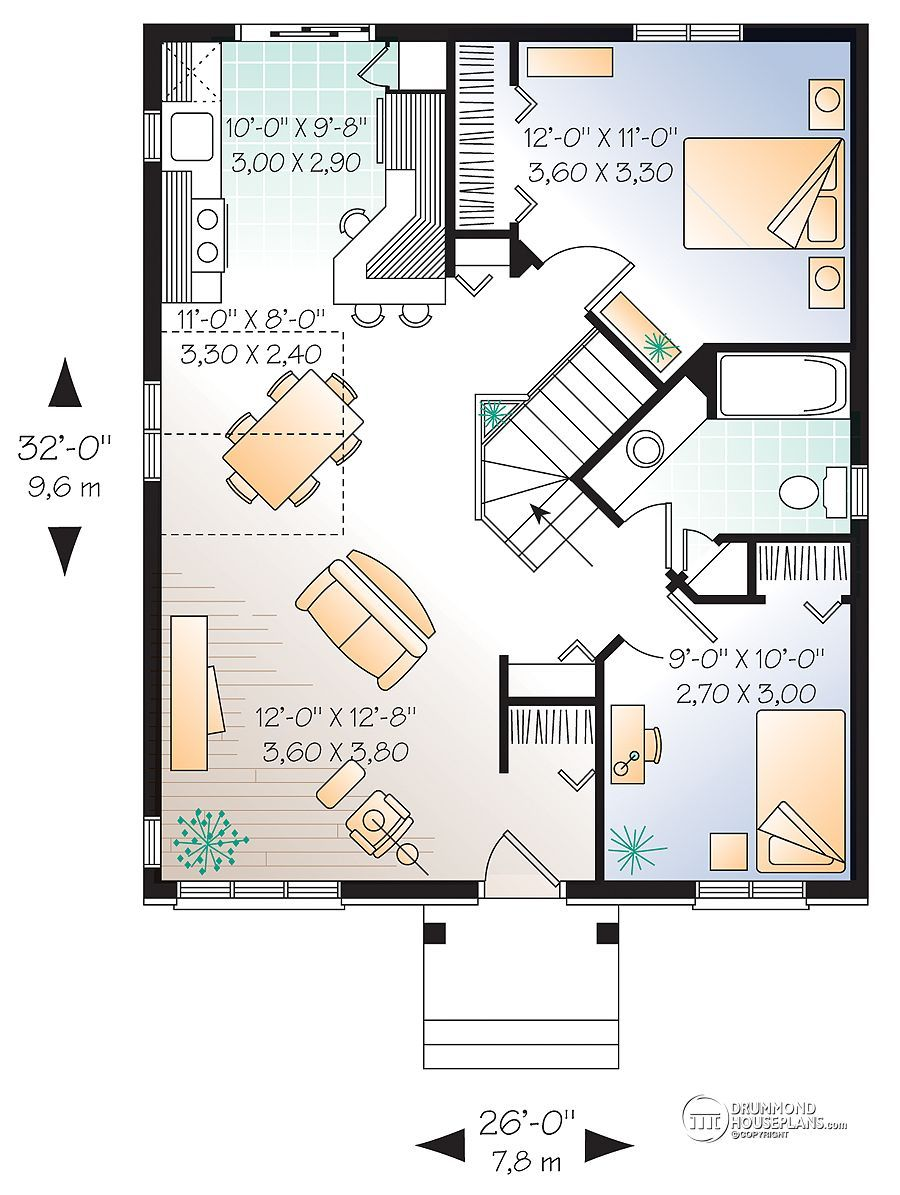 Discover The Plan 2186 Chauncy Which Will Please You For Its 2 Bedrooms And For Its European Styles Drummond House Plans House Plans How To Plan