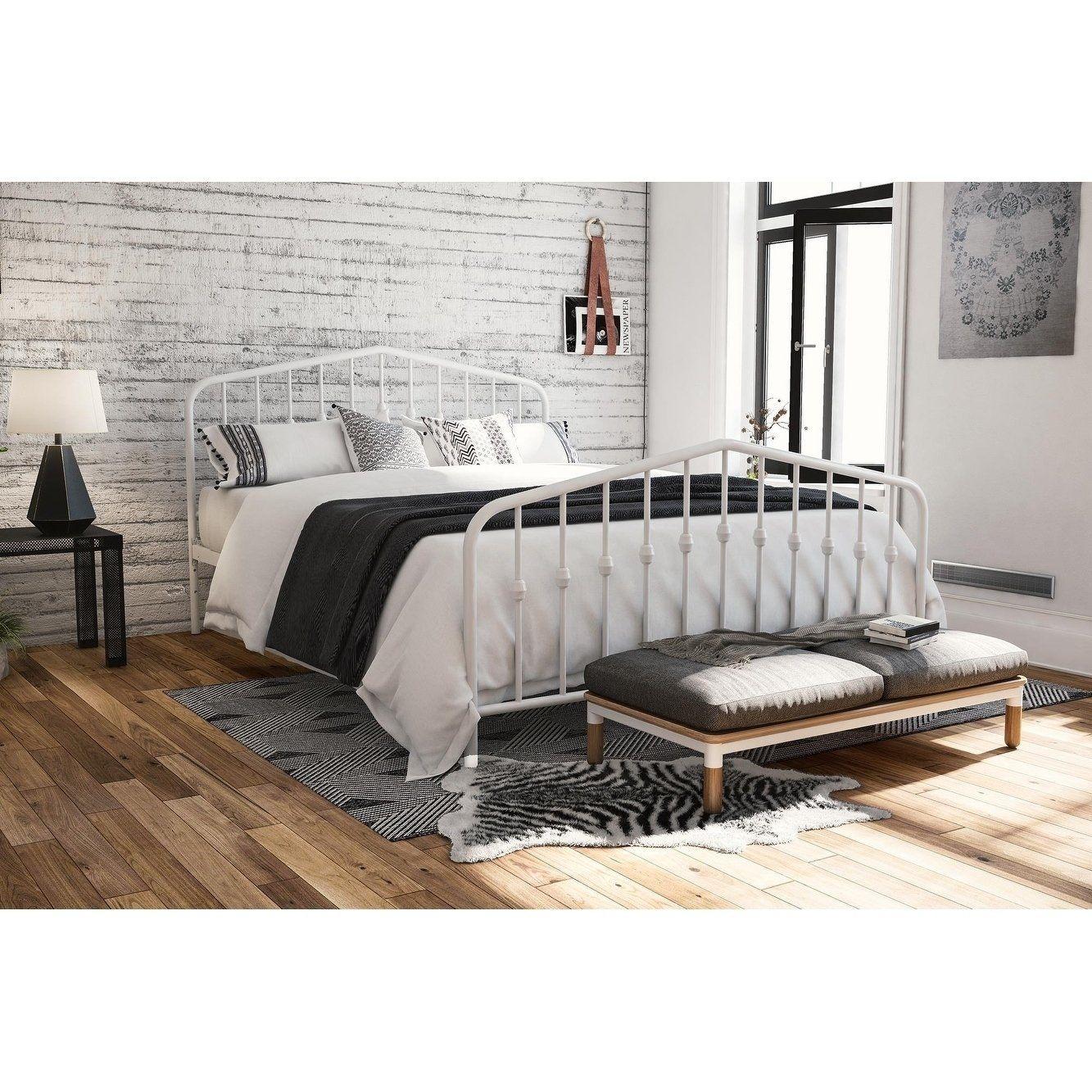 The Gray Barn Latigo Metal Platform Bed King metal bed