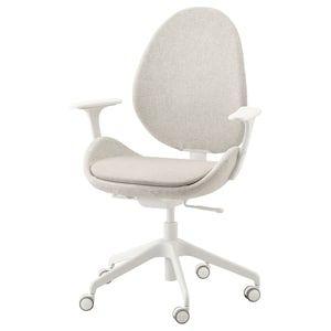 Hattefjall Office Chair With Armrests Gunnared Beige White Ikea Chaise Bureau Chaise De Bureau Blanche Ikea