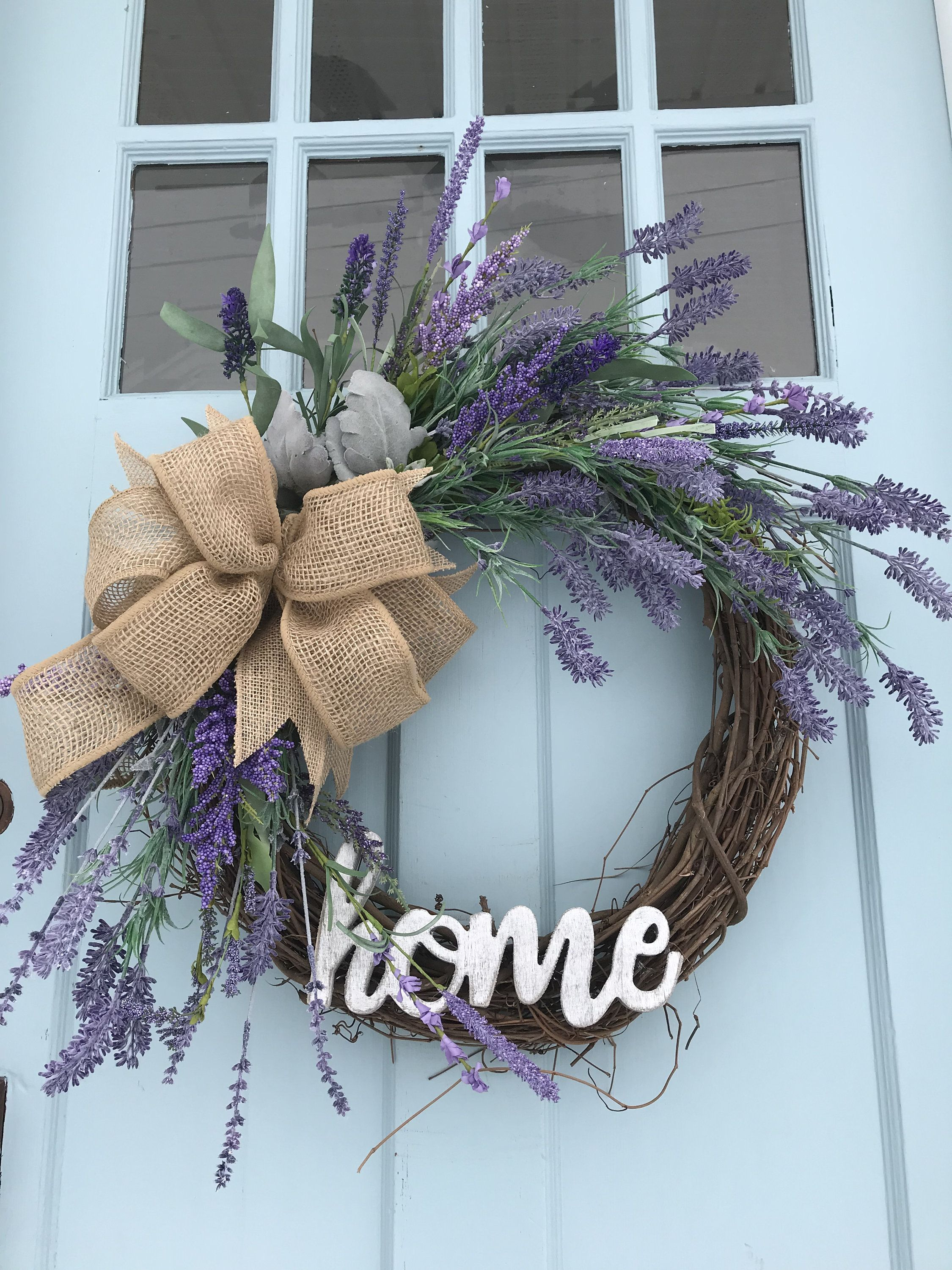 Lavender Home Wreaths Wreaths For Front Door Everyday All