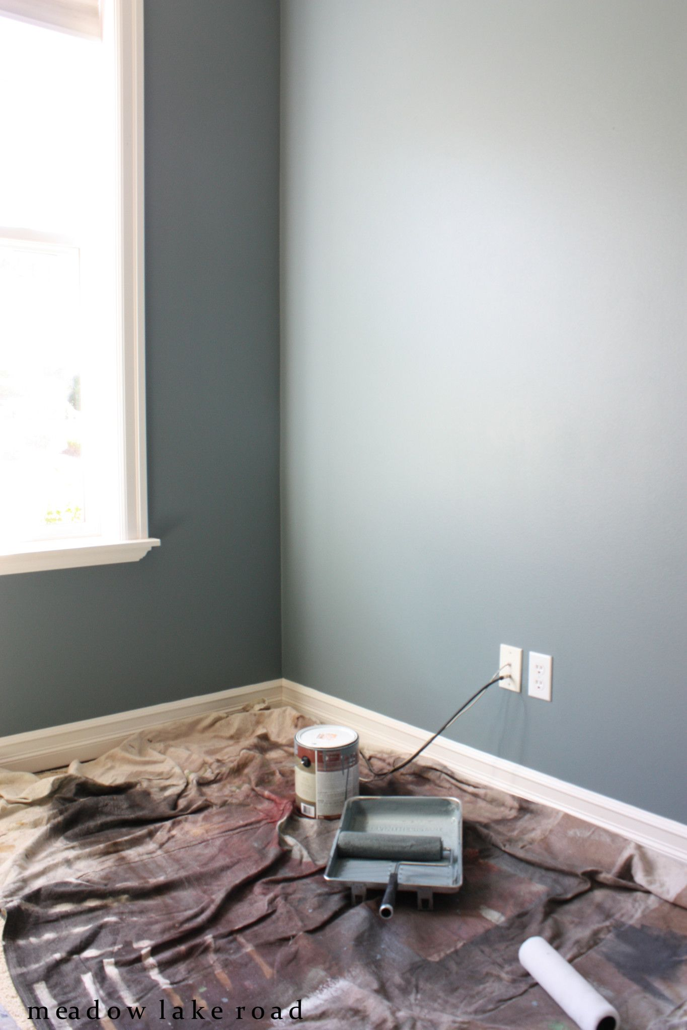 paint color for office. BM-SMOKESTACK GREY Choosing The Office Paint Color, ORC Week 3 - Meadow Lake Color For