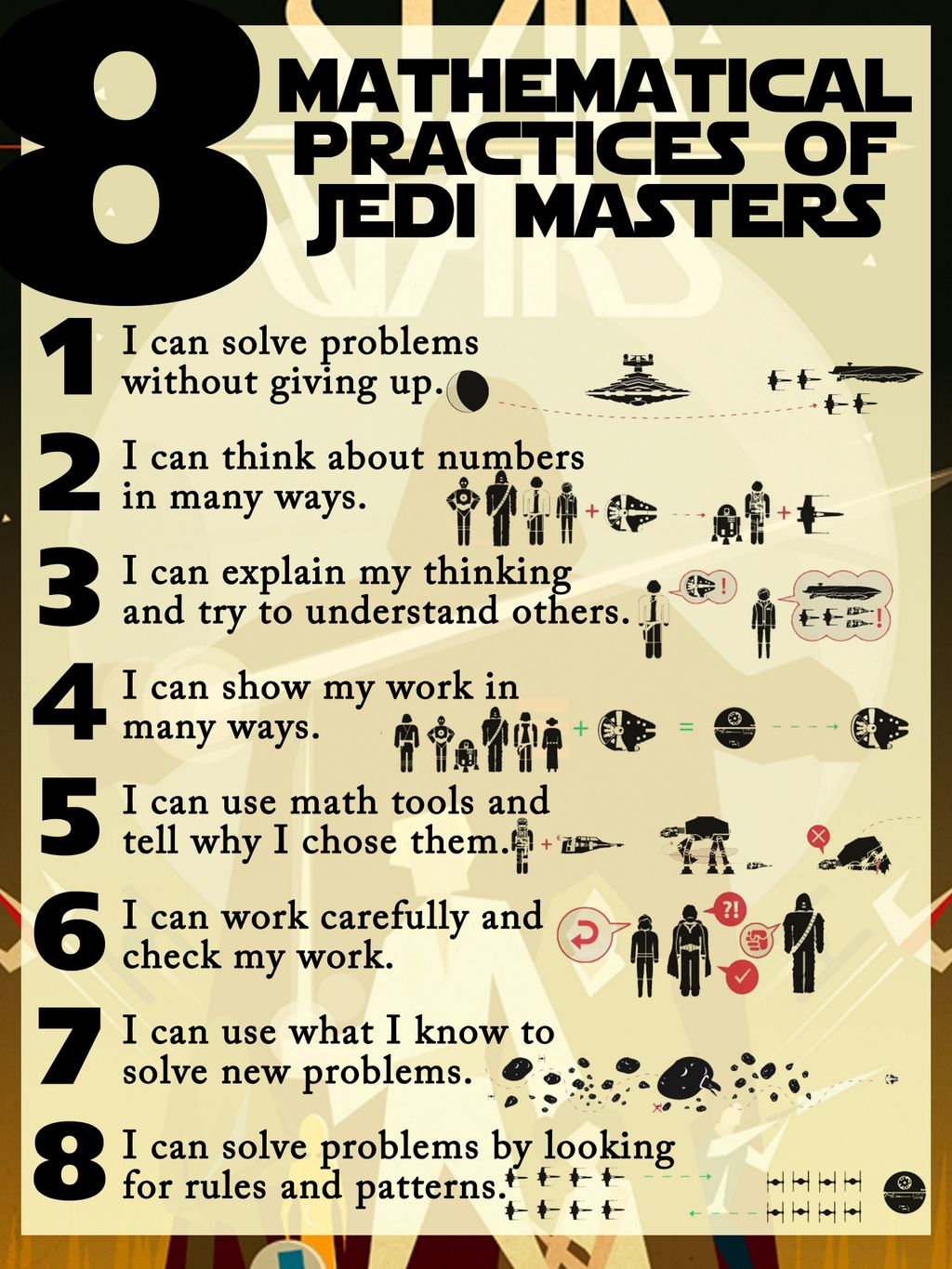 8 mathematical practices of Jedi masters | Math ideas | Pinterest ...