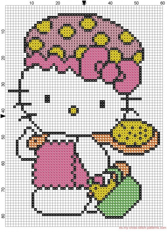 Hello kitty bao  Punto de cruzMedio punto  Pinterest  Hello