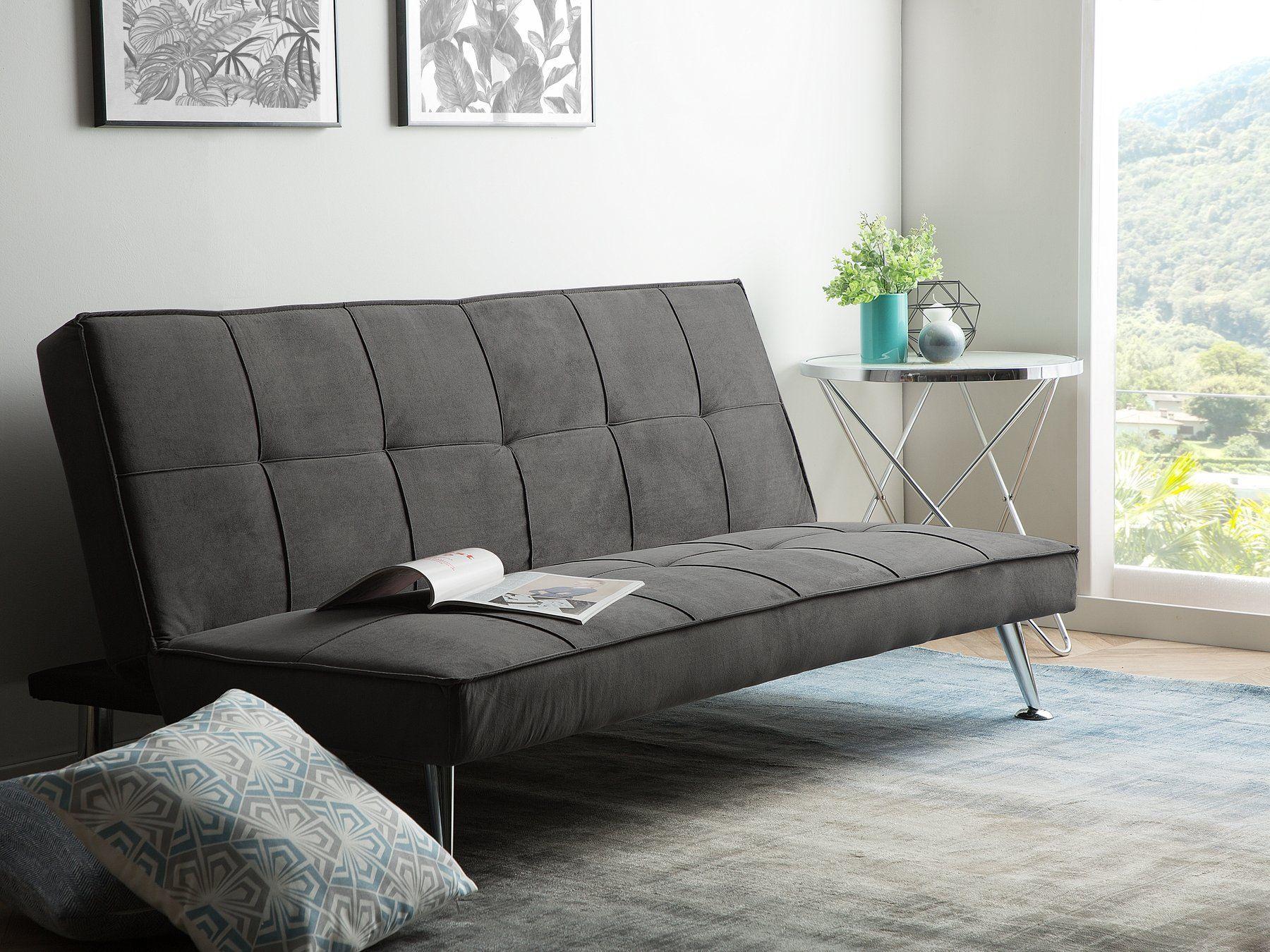 Fabric Sofa Bed Grey HASLE Grey sofa bed, Sofa bed