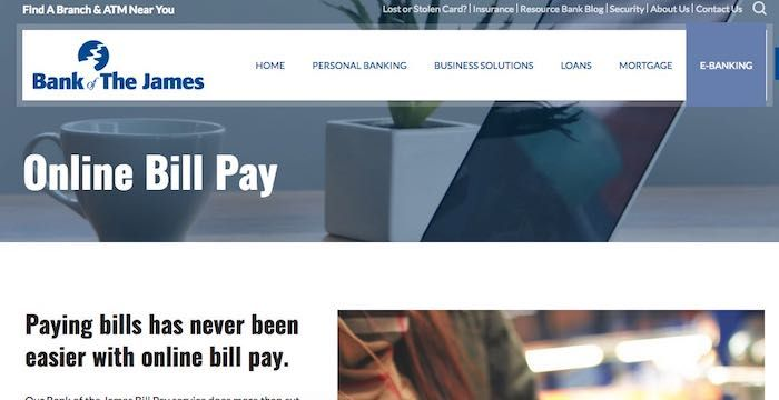 Bank of The James Bill Pay Online, Login, Customer Service