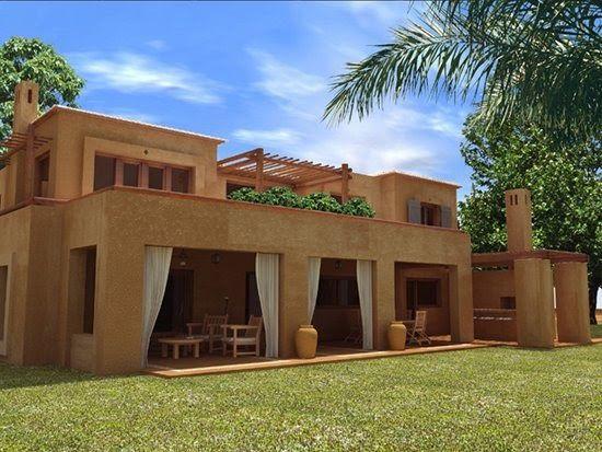 Decoracion rustica de casas y viviendas frentes y fachadas piscinas patios rusticos rustic - Casa nueva viviendas ...