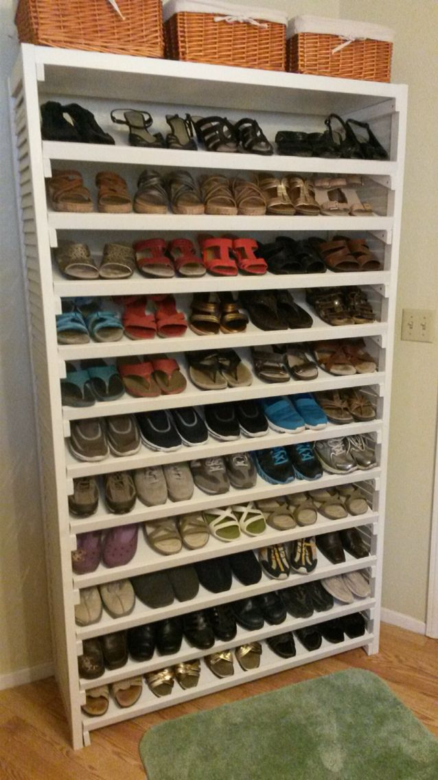 This is a shoe rack my father built for my mother.