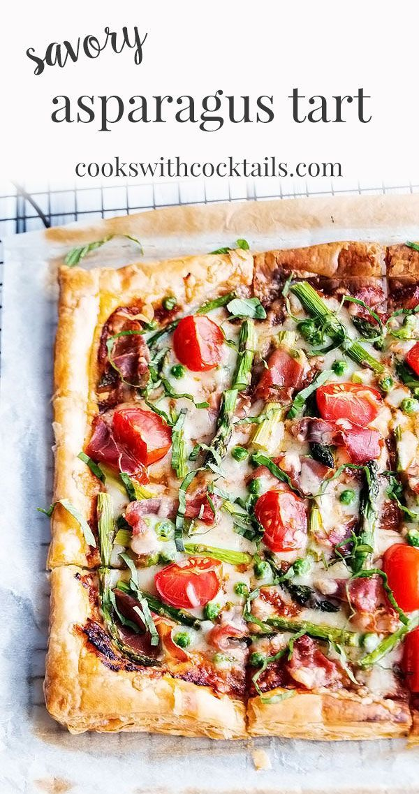 Easy Asparagus Tart with Puff Pastry ~ Cooks with Cocktails