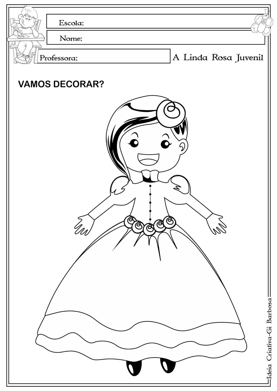 Desenho Da Linda Rosa Juvenil Para Colorir Linda Rosa Juvenil