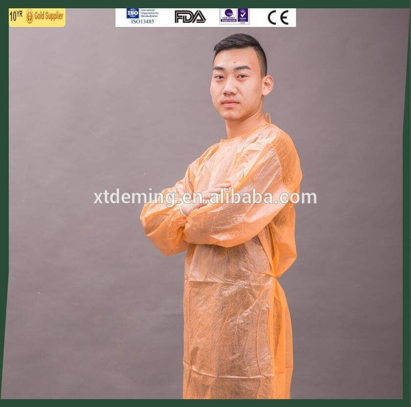 Disposable Yellow Laminated Surgical Isolation Gown - Buy Yellow ...