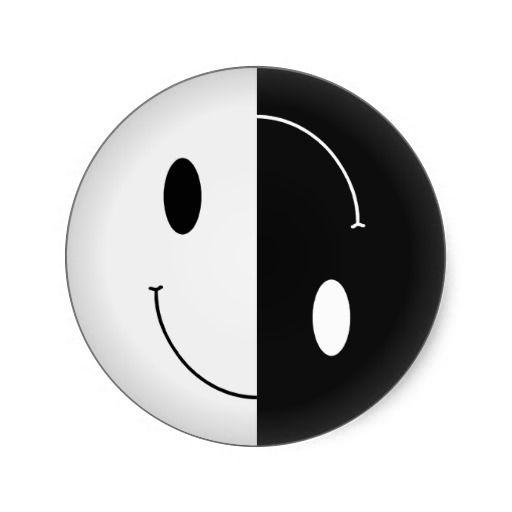 Yin Yang Classic Round Sticker | Zazzle.com
