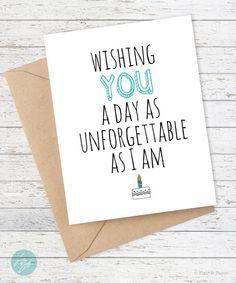 Funny Birthday Card Boyfriend Girlfriend By FlairandPaper