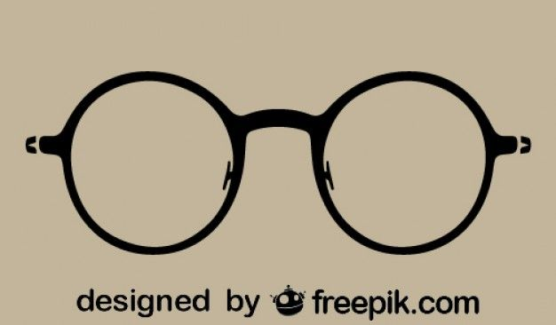 Round Vintage Glasses Silhouette Icon Vintage Glasses Glasses Logo Vector Free