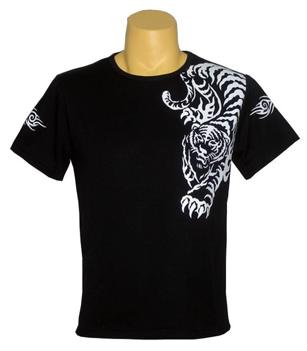 t-shirt designs | Tiger Tattoo Black T-shirt Design | school ...